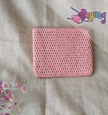HoM Mini Pouch Pinky Cream