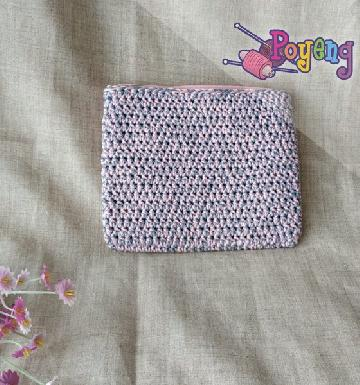 HoM Mini Pouch Pinky Grey