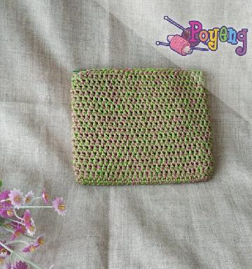 HoM Mini Pouch Violet Green