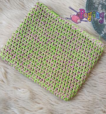 HoM Two Tones Pouch Violet Green